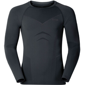 Odlo Evolution Warm Shirt L/S Crew Neck Men black/odlo graphite grey